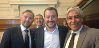 Delegazione COISP con il Ministro Salvini