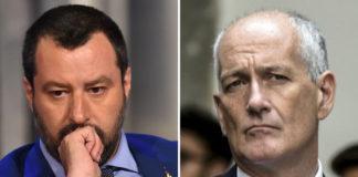Il Ministro dell'Interno, Matteo Salvini ed il Capo della Polizia, Franco Gabrielli