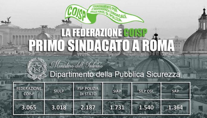 La Federazione COISP primo Sindacato a Roma